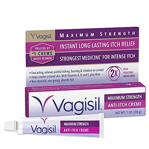 Vagisil Maximum Strength Feminine Anti-Itch Cream with Benzocaine for...