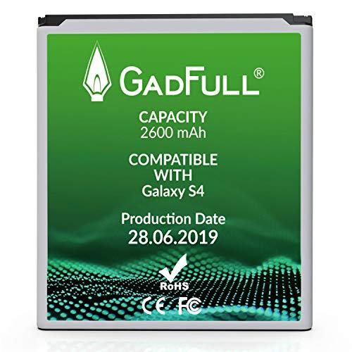 GadFull Batteria compatibile con Samsung Galaxy S4 | 2019 Data di produzione | Corrisponde al EB-B600BE originale | Compatibile con Galaxy S4 i9500 | LTE i9505