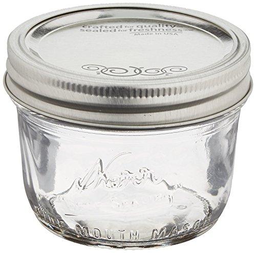 Wide-Mouth 8-Ounce Glass Jars
