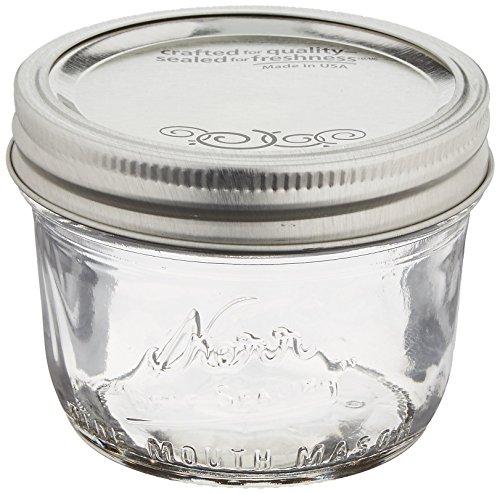 Wide Mouth Half-Pint Glass Mason Jars