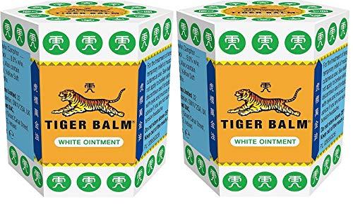 2 bálsamo tigre de 21 g | Tigre bálsamo pomada (blanco)