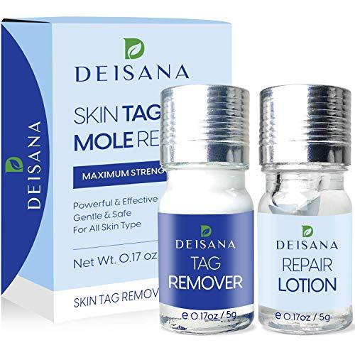 DEISANA Skin Tag, Wart & Mole Remover and Repair Gel Set Skin Tag Removal Treatment Mole Corrector