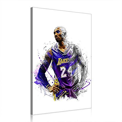 NBA Kobe Bryant Canvas Art Prints Poster Baloncesto Obra para La Decoración del Hogar De Oficina (Prints-14,30X50cm)