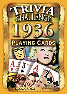 Flickback Media, Inc. 1936 Trivia Playing Cards: Great Birthday
