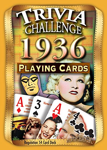 1936 Trivia Deck of Playing Cards
