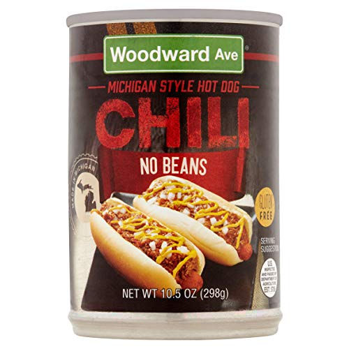 Woodward Ave Michigan Style Hot Dog Chili No Beans, 10.5 Ounces (Pack of 3)