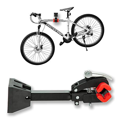 Clothink Bike Repair Stand Foldable Bicycle Wall Mount Rack Workstand, Bicycle Mechanic Maintenance for Storage