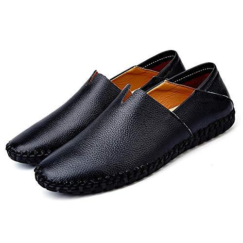 Zhongyu Herrenmode Leder Kleid Schuhe | Büroschuhe | Herrenschuhe | Herren Freizeitschuhe | Leichte Outdoor-Schuhe Schwarz 46EU