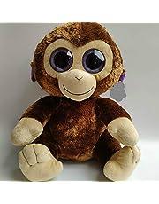 Leyue Juguetes de peluche 40 cm coco mono ojos grandes peluches juguetes rellenos niños juguetes suaves gracias dar dia regalo nano muñecas