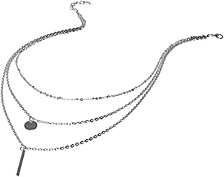 Zaioo Multilayer Circle Bar Necklace Pendant Quality Women Jewelry