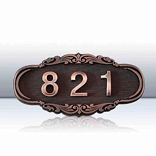 Godmoy Personalizzato Indirizzo Targa Personalizzato Numero civico Registrati con Arch Top per Home Apartment Camera d'albergo, Mostra Il Tuo indirizzo, 10 Stili opzionali
