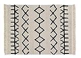 Lorena Canals - Alfombra lavable Bereber Canvas - Natural, Negro - 60% algodón, 40% otras fibras. Base: Algodón reciclado - 200x140 cm