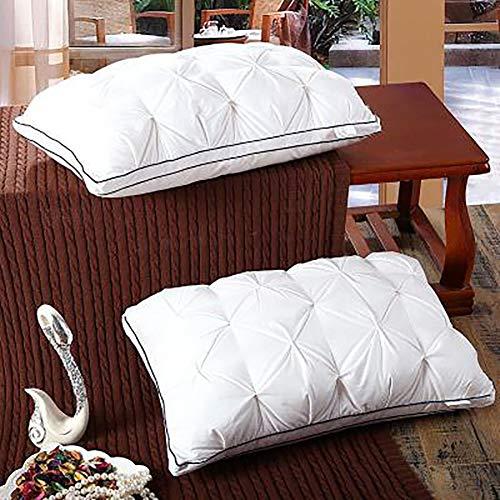 MRXUE hoofdkussen, zacht, dons, hoogwaardig, 100% dons, voor mensen die op de rug en aan de zijkanten slapen, comfortabel en ademend.