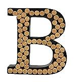 Decomil Wine Cork Holder (A-Z) (Letter B) | Decorative Wine Letters Cork Holder (B) | Wall Art Cork Holder Decor (B)