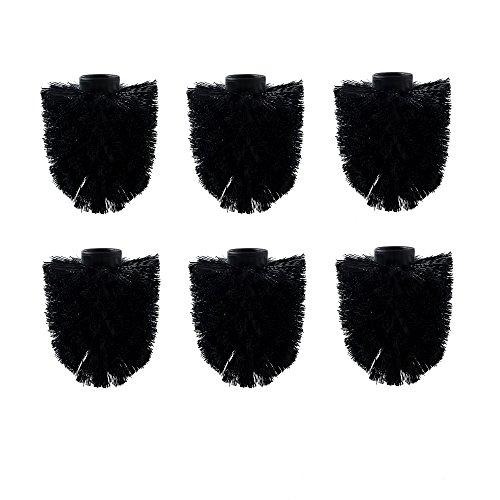 6er Pack WC Ersatzbürstenkopf schwarz Ersatzbürsten schwarz Bürstenkopf EIN-zeln wechselbar Toilettenbürste