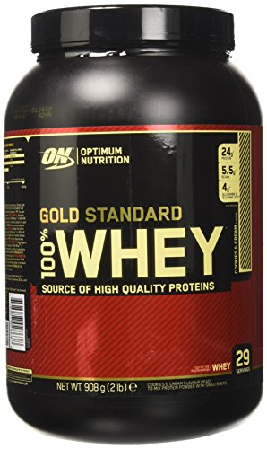 Optimum Nutrition 100% Whey Gold Standard Proteine del Siero di Latte in Polvere, Gusto Cookies And Cream - 908 gr