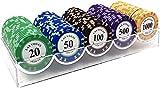 Fichas de Poker Profesionales 100 Piezas De Chip De Póquer Con Denominaciones, Fichas De Póker Con Estuche, Juegos De Mesa Y Entretenimiento, Chips Póquer, Juego De Juegos For Familias De Amigos