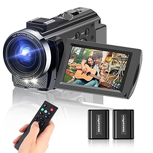 Video Camera Camcorder, Full HD 1080P Digital YouTube Vlogging Camera...