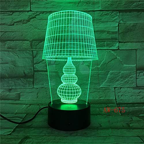 USB LED Nachtlicht Lotus 3D Urlaub Tischlampe Schalter Laterne Touch Dekoration 11 Regler