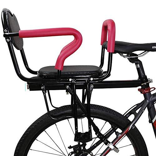 DKZK Seggiolino Bicicletta Sedile Posteriore Bicicletta Staffa Bambini con Braccioli E Pedali Antiscivolo Cinture di Sicurezza per Seggiolino per Bambini 2-6 Anni