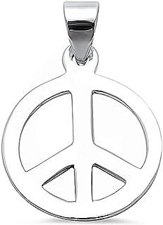 Oxford Diamond Co Peace Sign .925 Sterling Silver Pendant 347267