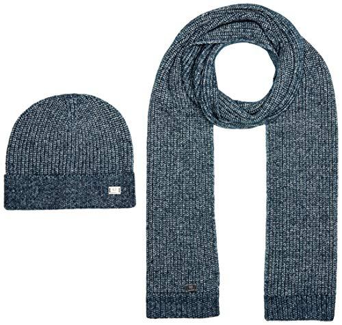 Strellson Premium Herren Lyan-Box Mode-Schal, Dark Blue 402, One Size