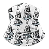 Hui-Shop Pequeño Alicia en el país de Las Maravillas Calentador de Cuello Polaina para Hombres Mujeres Diadema Cara m-Ask Bufanda Sombreros Invierno Pasamontañas