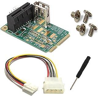 Mini PCI-E PCI Express to PCI-E 1X Card Adapter Riser Extender USB port