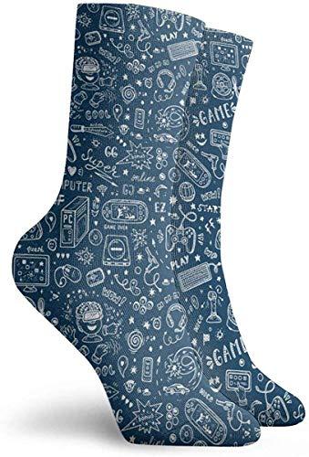 63251vdgxdg sokken voor dames, maat 10-12, gadget icoon vector naadloos patroon