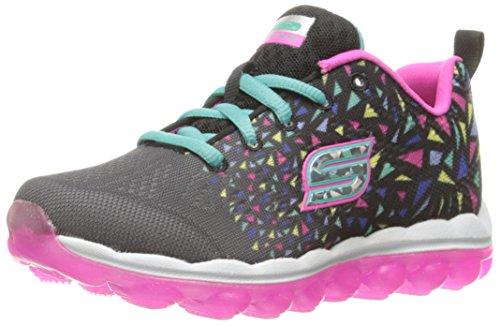 Skechers Skechers Kids Girls' Skech Air Sneaker, Black Confetti, 10.5 M US Little Kid