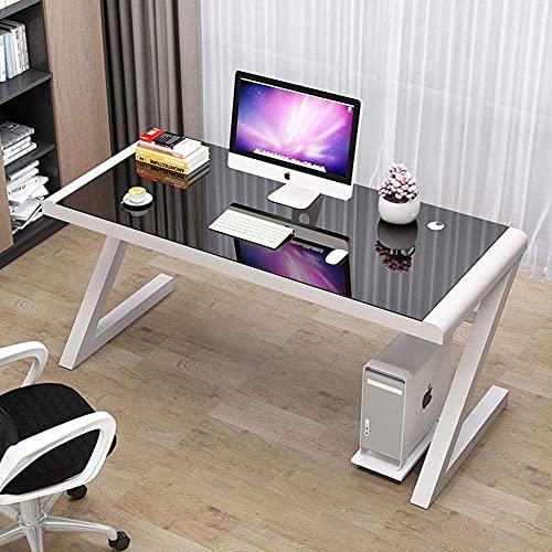 Mesa de cristal templado para el hogar, oficina, oficina, oficina, mesa de trabajo, estación de trabajo en forma de Z, simple estudio, hogar, oficina, PC portátil escritorio C 50 x 50 x 75 cm