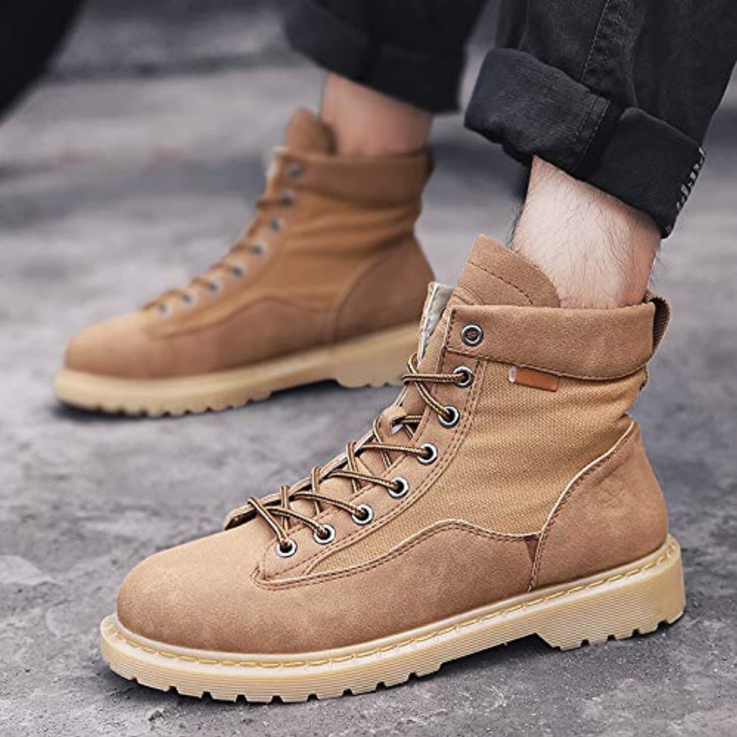 ZyuQ Ankle boots Men'S shoes Martin Boots Men'S Boots High shoes Men'S Retro In The Desert Boots Tooling Boots