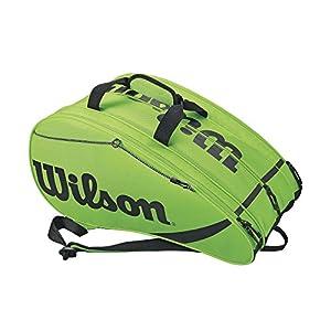 515pDCbef6L. SS300  - Wilson Rak Pak Bolsa de pádel, hasta 6 palas, puede usarse como mochila, Unisex
