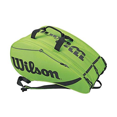 Wilson Padel-Tasche, Rak Pak, Unisex, grün/schwarz, Für bis zu 6 Schläger, Als Rucksack tragbar, WRZ618400
