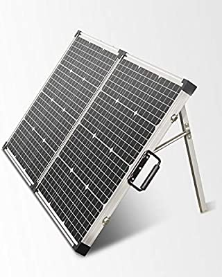 ALLPOWERS Solar Panel 120 Watt 12Volt Monocrystalline Off Grid Portable Foldable Suitcase Solar Charge Built-in Kickstand with Waterproof Charger Controller
