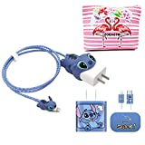 ZOEAST(TM) DIY Animal Cartoon Cable Protector 18W 20W USB Charger Saver Charging Data Earphone Line Bite Organizor Compatible with All iPhone 11 12 Pro Max Mini etc USB Wire (Stitch)