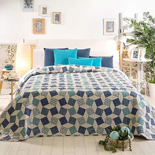 Sancarlos Kenzo Bouti sprei, blauw, 135 cm bed