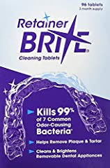 Helps remove plaque & tartar Kills germs & bacteria Cleans & brightens Keeps appliances minty fresh