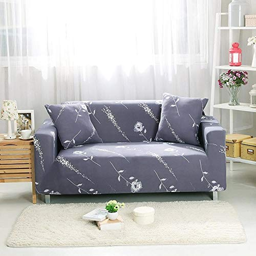Stretchy Sofa Cover,Cotton Jacquard Sofa Cover, Full-Cover Non-Slip Sofa Cushion Cover, dustproof Cover for Furniture in Spring, Summer, Autumn and Winter-Simple Love_230-300cm