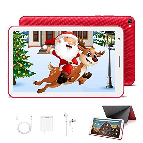 Tablet Bambini 8.0 Pollici con Wifi Offerte Android 10.0 Certificato Google GMS 3GB RAM 32GB/128GB Tablet PC in Offerta 1.6GHz Quad Core 5000mAh Tablet Android con Giochi Educativi Netflix(Rosso)