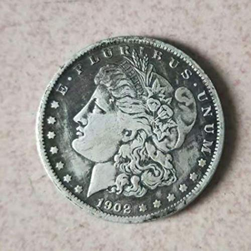 DDTing Best Morgan Silver Dollars-1902 Old Coin Collecting- Moneda Americana sin circulación, Plata Dólar USA Old Original Pre Morgan Dollar Buen Servicio