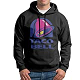 Taco Bell Logo Mens Long Sleeve Pullover Hoodie Sweatshirt Black