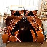 DCWE Star Wars - Juego de funda nórdica y funda de almohada (microfibra, 220 x 240 cm)
