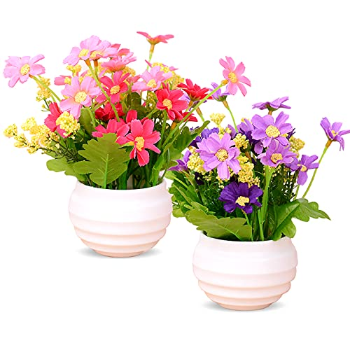 Flores Artificiales Exterior Macetas flores artificiales  Marca Mlysnd