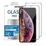 NOVAGO Compatible avec iPhone 11, iPhone XR (6.1') Lot de 2 Films Protection écran en Verre Trempé Ultra Résistant (Transparent Plus Petits Que l'écran)