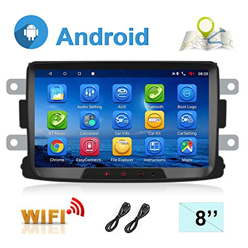 Autoradio Android 7.1 per Renault Dacia GPS Navigation CAMECHO Touch Screen Capacitivo da 8 pollici Car Stereo Player WiFi Bluetooth FM Dual USB per Sandero Duster Logan Dokker