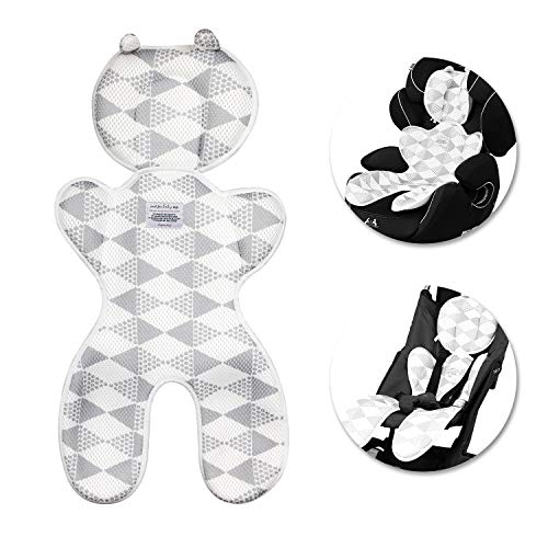 Baby Sitzauflage,Samione Atmungsaktive Sitzeinlage Universal Sitzauflage für Kinderwagen, Buggy, Autositz und Babyschale - Schützt den Sitzbezug vor Flecken (Dicker)