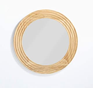 Now House by Jonathan Adler Josef Wall Mirror, Blonde Wood