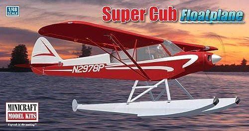 Minicraft 11663 Piper Super Cub w Floats Bush Plane 1 48 Plastic Kit by Minicraft