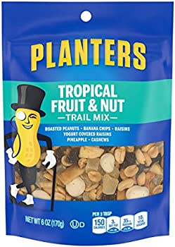 12-Pack Planters Tropical Fruit & Nut Trail Mix (6 oz Pouches)